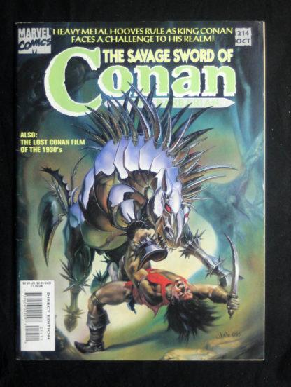 savage sword conan 214